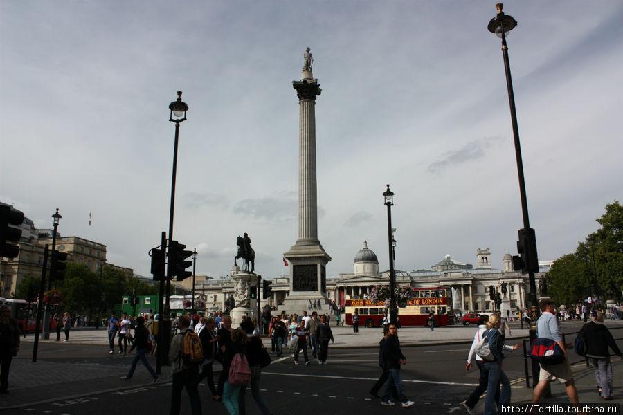 Лондон. Трафалгарская пло