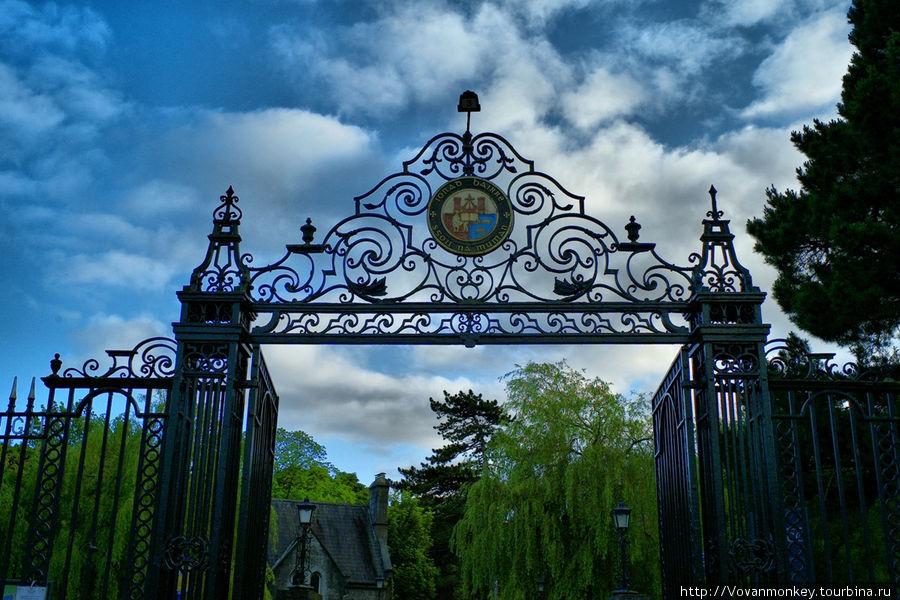 Ворота на территорию унив