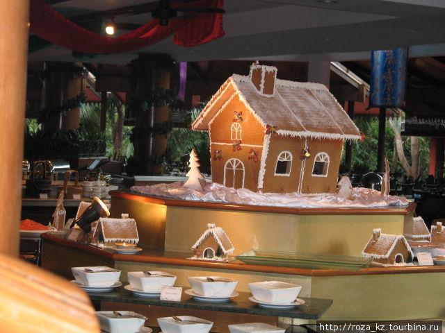 пряничный домик в основном ресторане