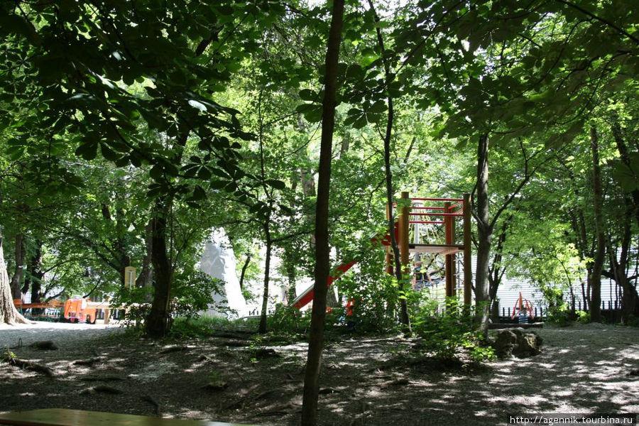 Детская площадка — практически в каждом биргардене, это место семейного отдыха