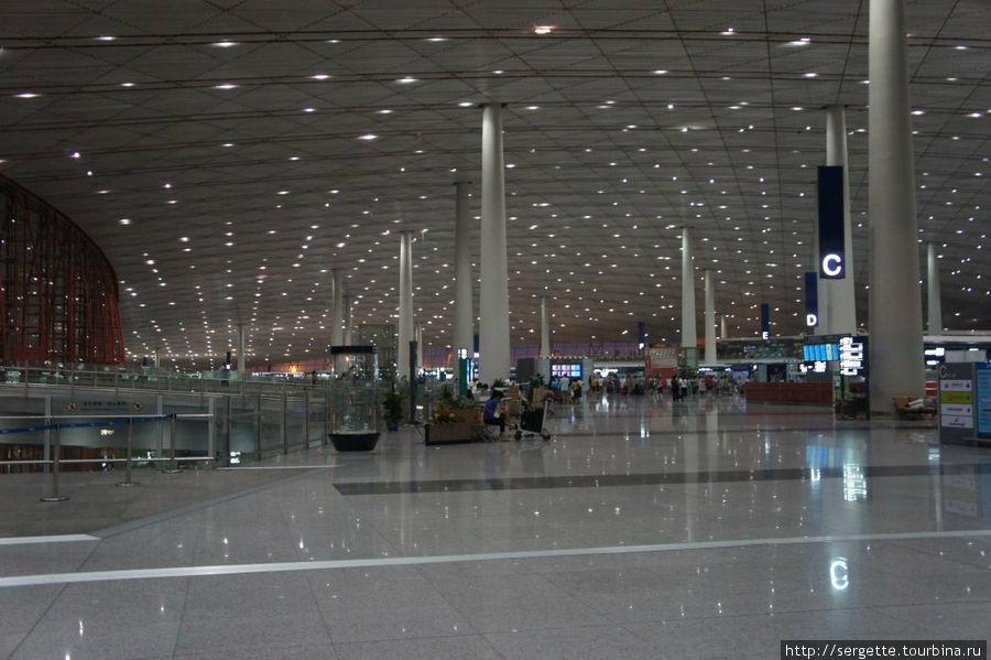 Пекинский аэропорт. Зал вылетов.