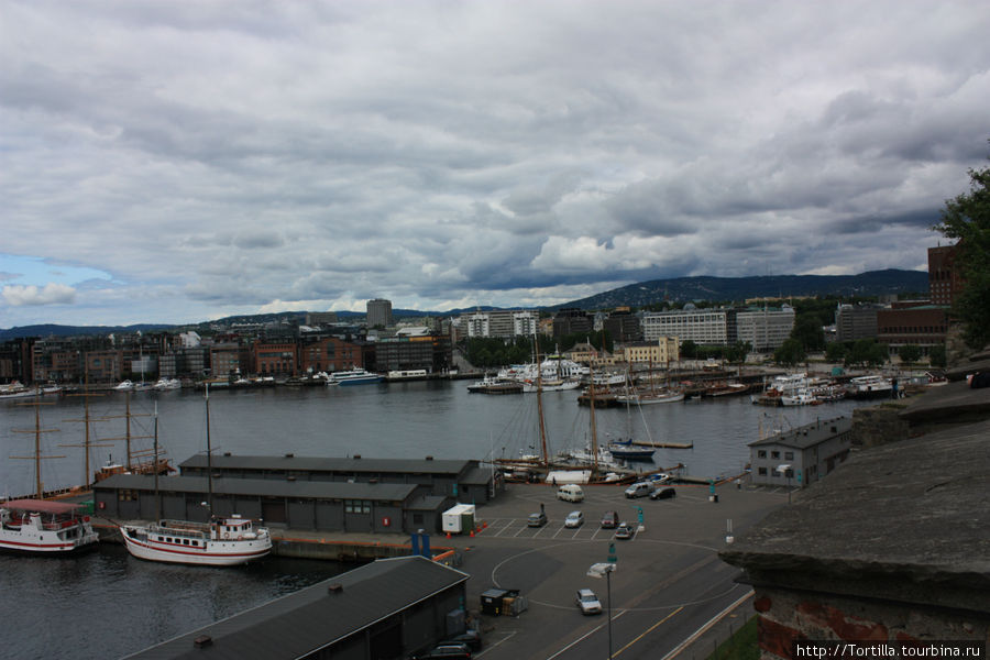 Вид на Осло из крепости Акерсхус