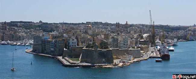 Вид на форт Сент Анджело