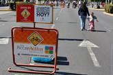 Надпись на знаке: «Сколько километров ты прошёл/пробежал/проехал сегодня?»