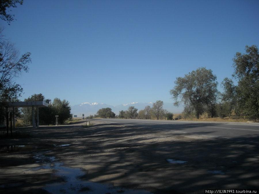 На подъезде к Бишкеку