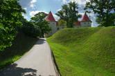 Старую часть крепости построил Ливонский орден в 15 веке. Новую — резеденцию Курземского герцога — в конце 16-го.