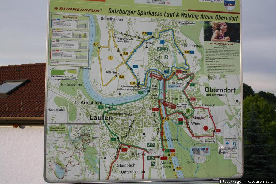 Карта Лауфена и Обернсдорфа