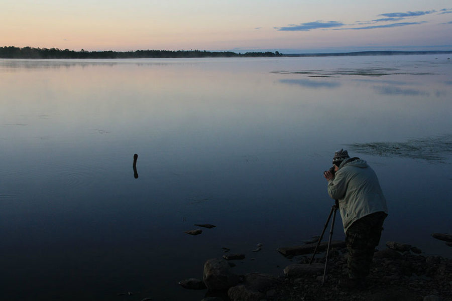 Рассвет на оз.Ловозеро