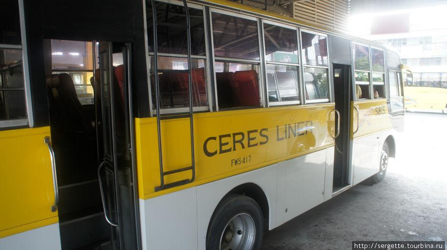 автобусы Ceres выполняют рейсы в южном направлении и до Думагете