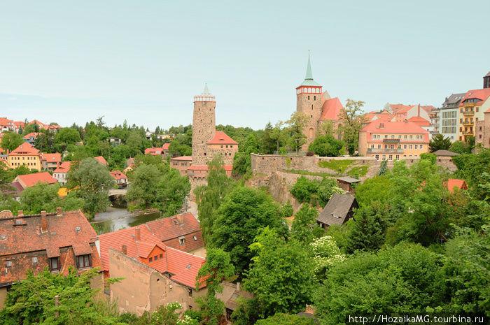 Старая часть города Баутцен. Свободное государство Саксония.
