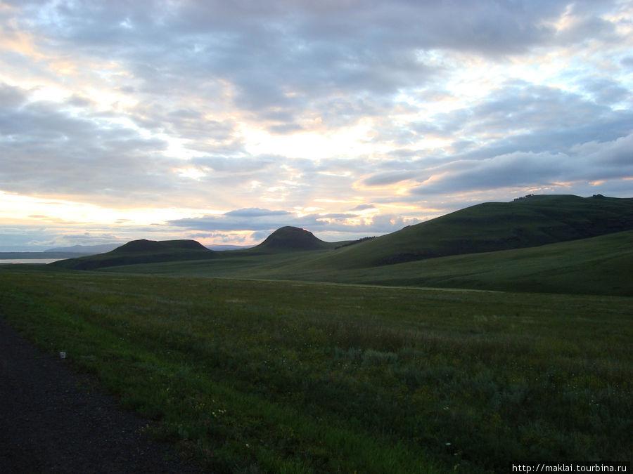 Наши хакасские степный пейзажи.