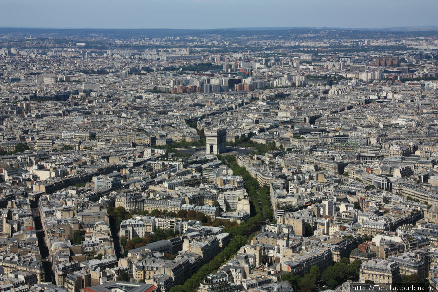 Вид с Эйфелевой башни — Т