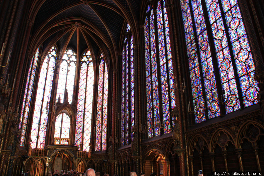 Париж. Сент Шапель. Капелла Святого Креста