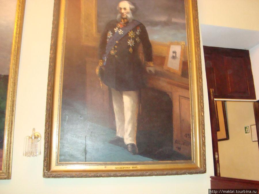 Портрет И. Айвазовского из экспозиции Феодосийской картинной галереи.