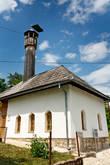 Деревянный минарет на мечети. Редко такой увидишь