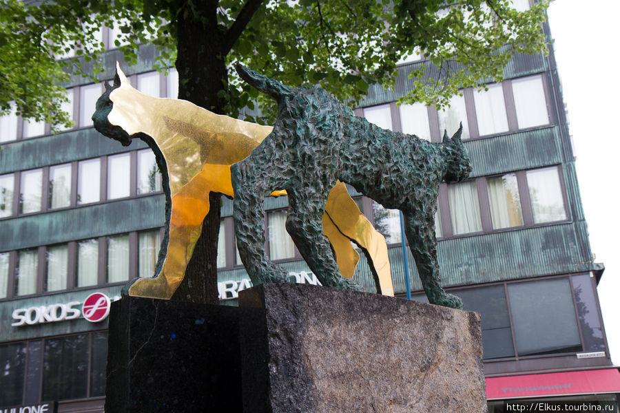Современная скульптура в Котке Котка, Финляндия