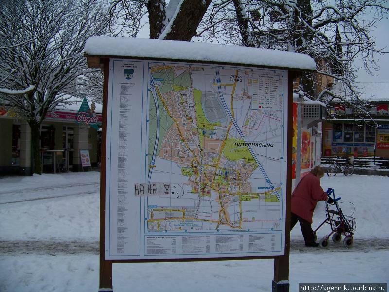 Карта Унтерхахинга возле станции