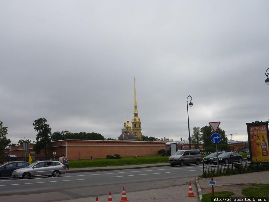 Вид на петропавловскую крепость от Троицкой площади
