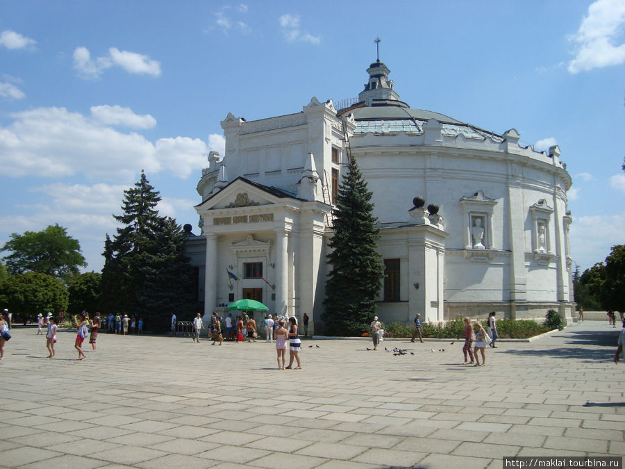 Панорама обороны Севастополя.