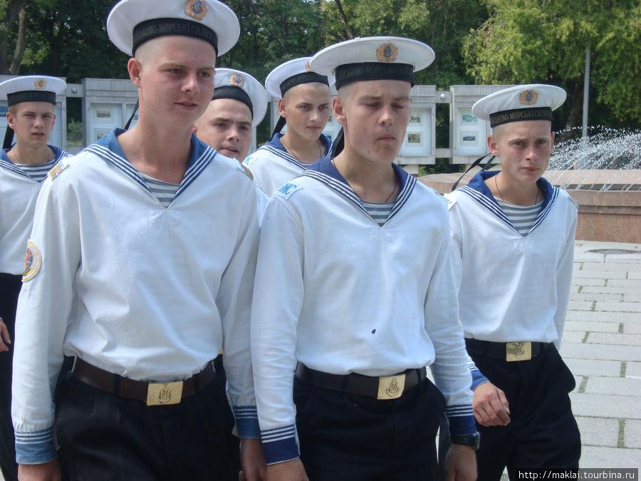 Матросы ВМФ Украины.