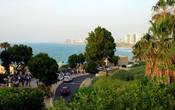 Самый лучший вид на Яффский залив и панорама Тель-Авива на фоне горизонта.