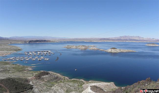 Небольшая часть озера Мид