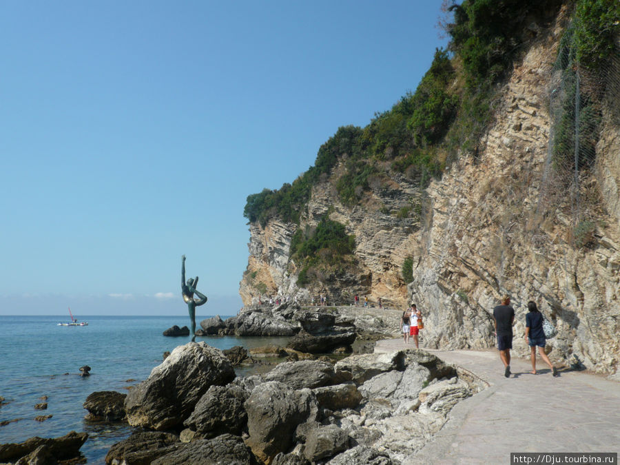 Дорога к пляжам Могрен.