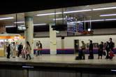 На перроне вокзала в Токио