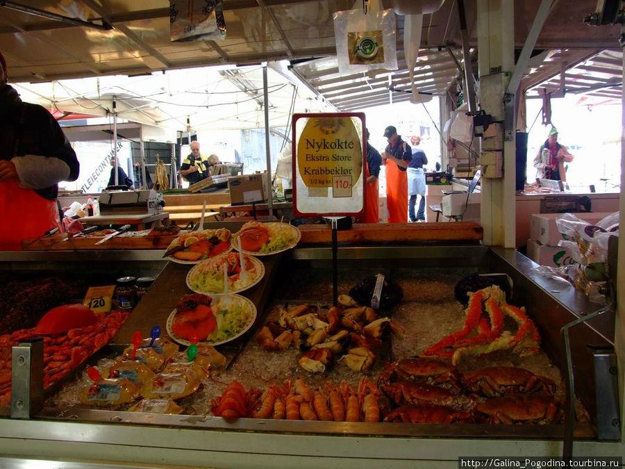 рынок морепродуктов в Бергене