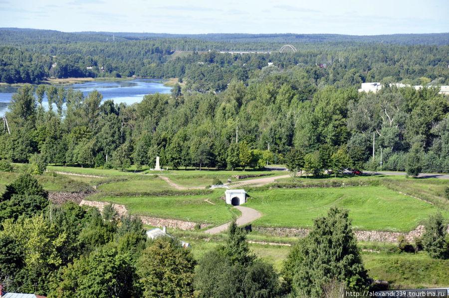 Аннинские укрепления (вид с башни замка)