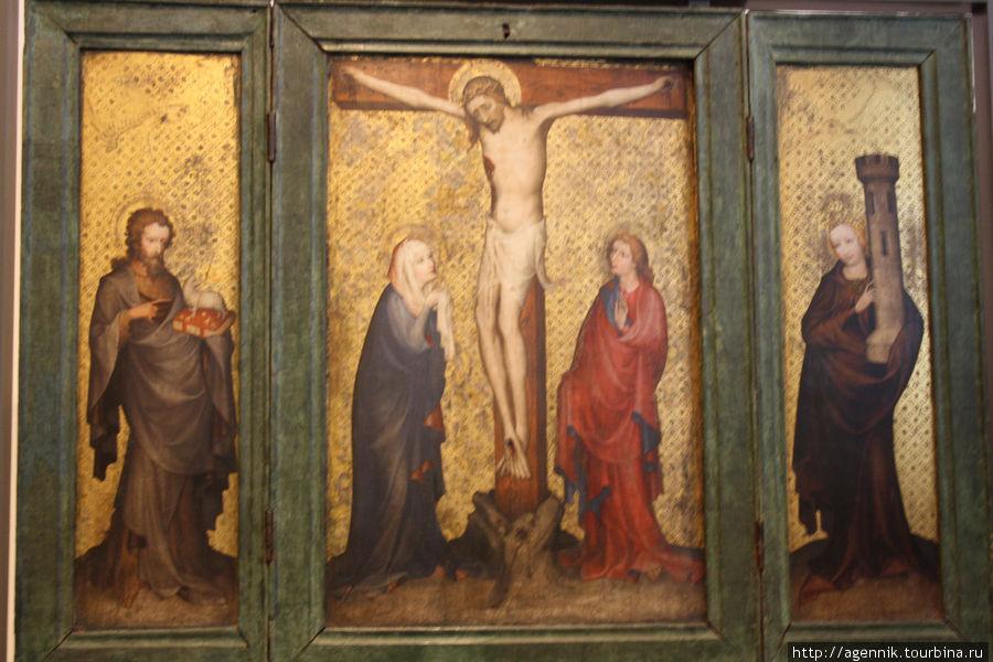 Естественно, все средневековое искусство посвящено христианским темам