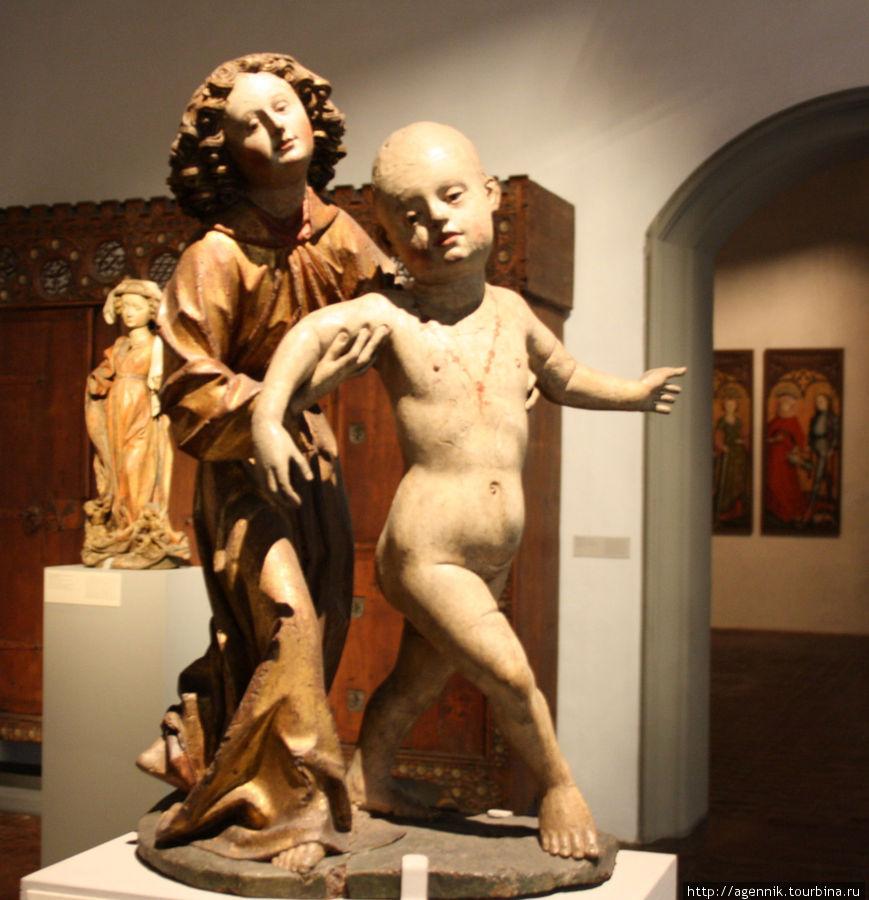 Ангел учит ходить младенца Иисуса