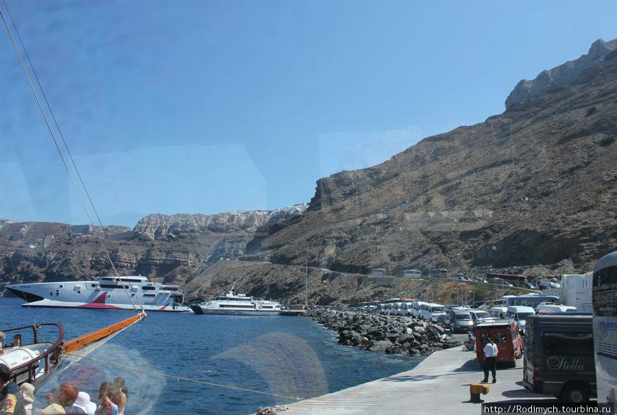 Вереница автобусов, которая поедет объезжать остров и большинство по одному маршруту