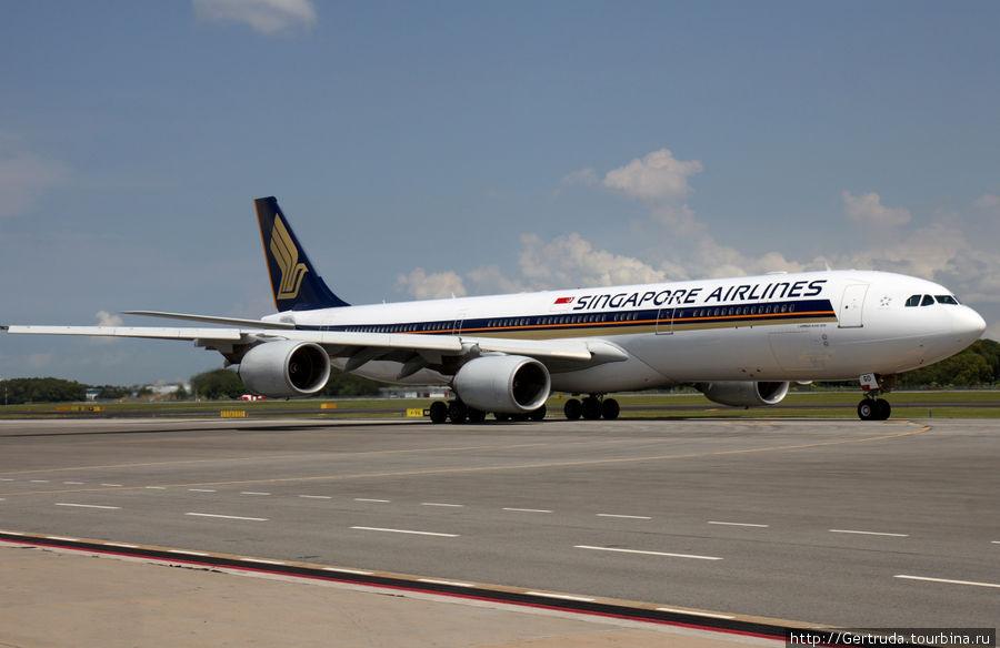 Самолет Сингапурских авиалиний