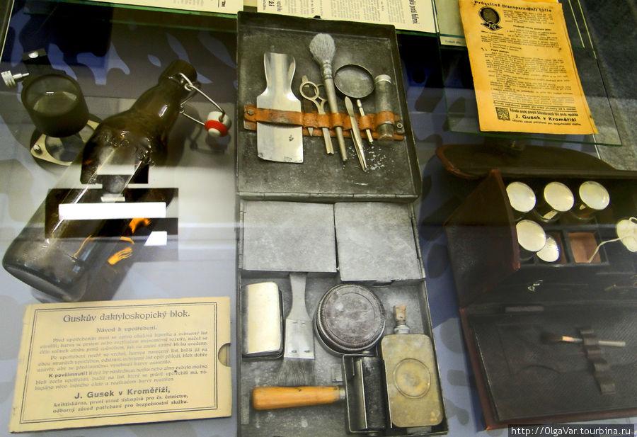 Содержимое чемоданчика криминалиста начала 20 века