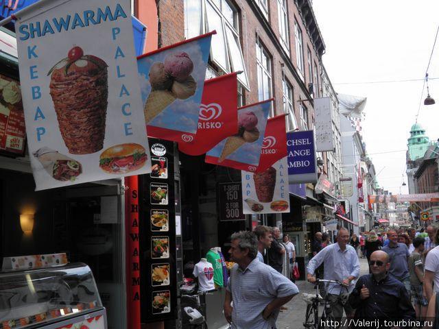 Тогровая и пешеходная улочка Stroget (по датски