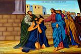 Икона. Чудо исцеления Иисусом Христом нищего слепого.