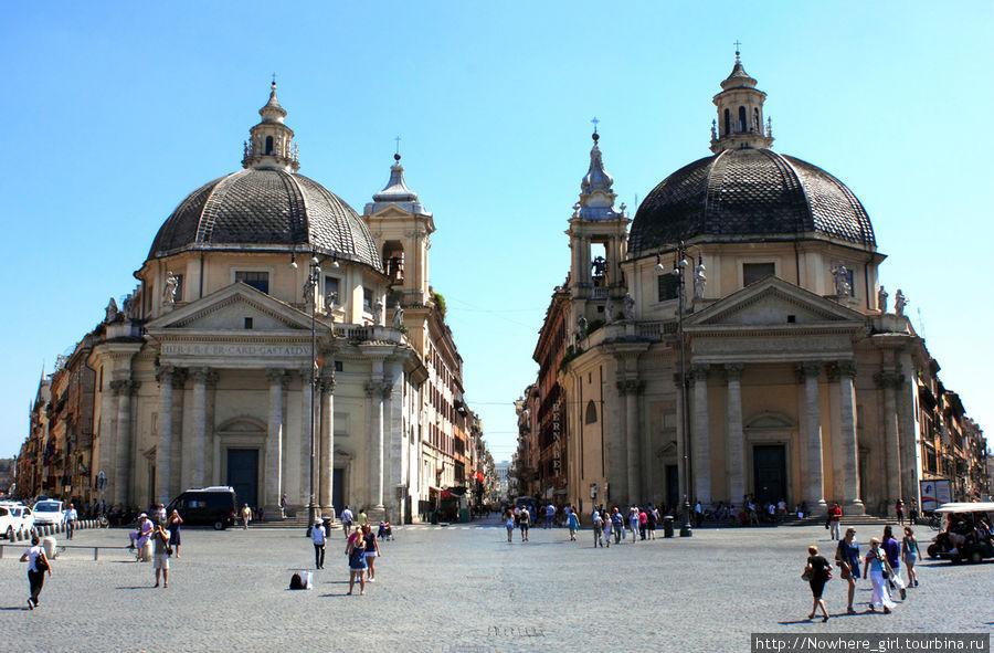 Церкви-близняшки Санта-Мария-деи-Мираколи и Санта-Мария-ин-Монтесанто