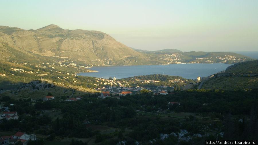 Вид из Боснии на хорватское побережье