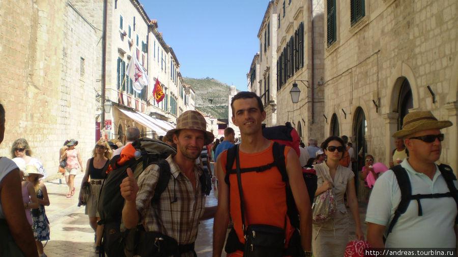 На главной улице Старого Дубровника