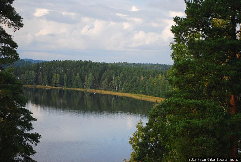Вид на озеро Саимаа.