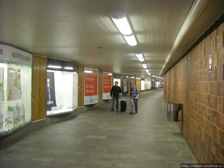 Тоннель от станции в сторону терминала