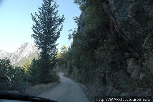 Грунтовая дорога вдоль ка