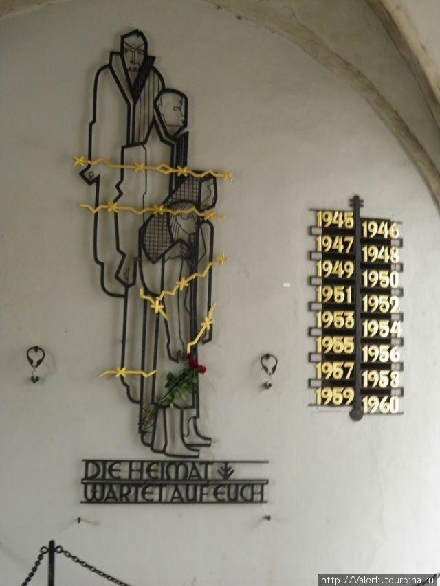Памятный знак тем, кто после лишений плена, вплоть до 1960 года, возвращался домой.
