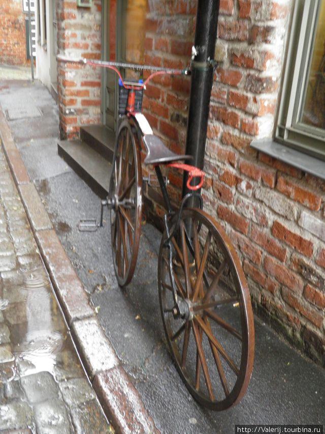 Праотец современного велосипеда.