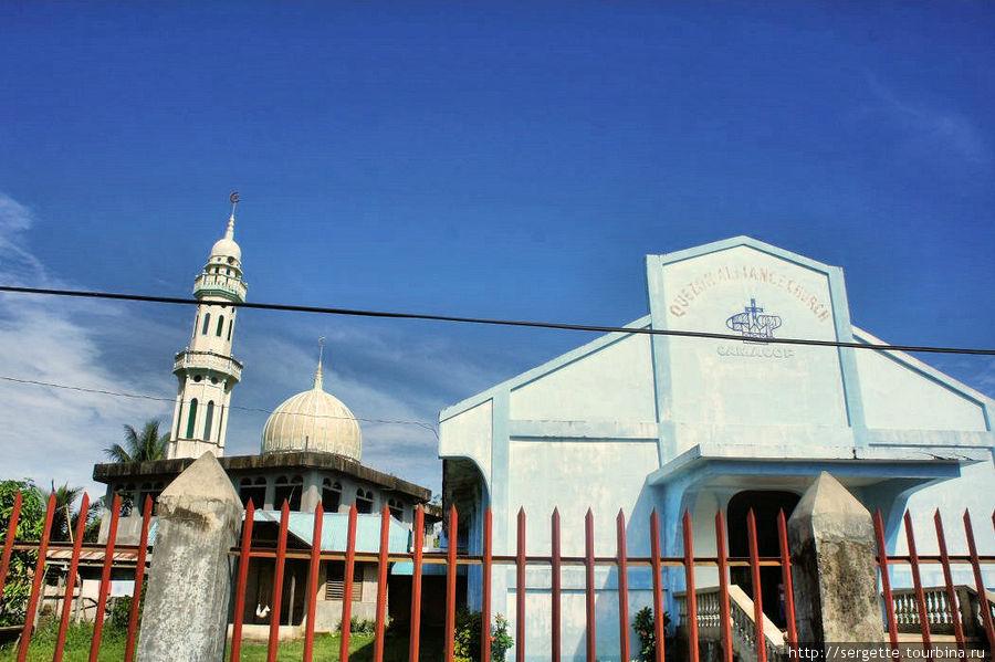 Мечеть и христианский храм