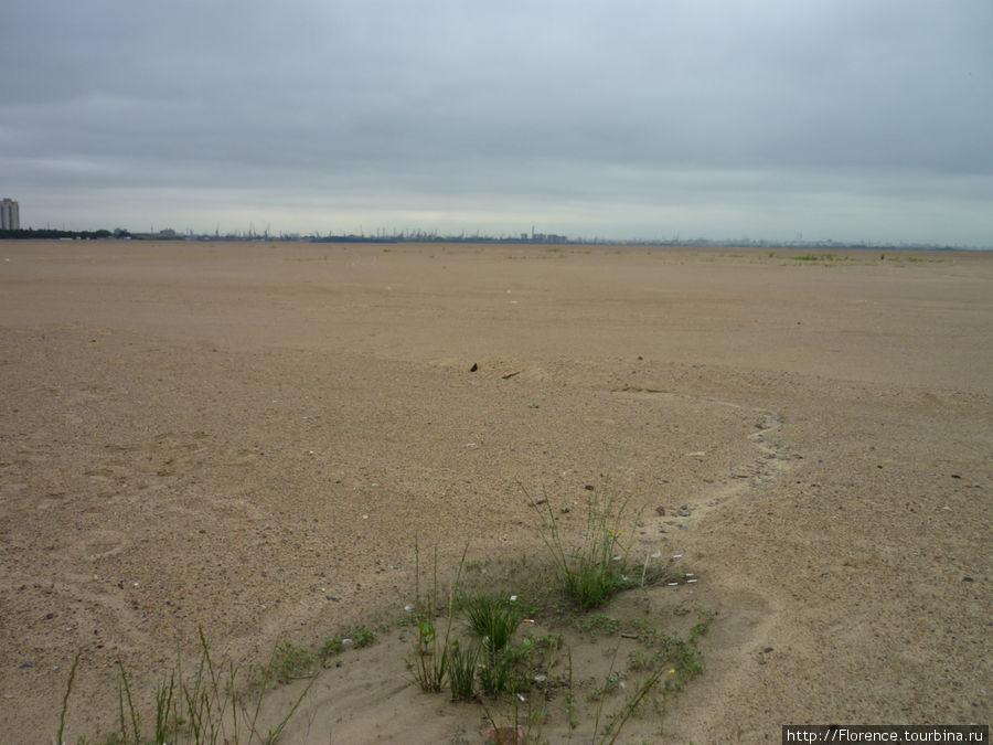 Такой пейзаж вас окружает, если вы добираетесь до порта пешком