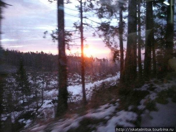 Рассвет по пути из Праги