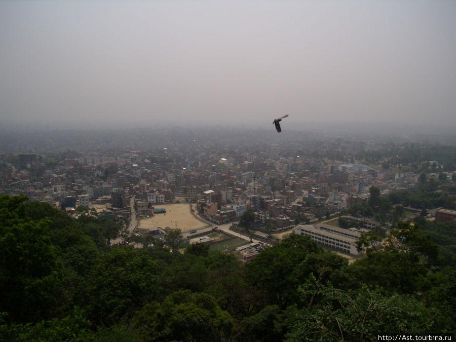 Полет над долиной Катманду.