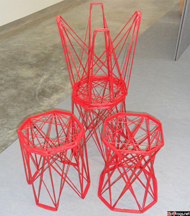 Набор: стул и две табуретки